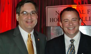 HUD Assistant Secretary for Fair Housing and Equal Opportunity John Trasvi?a with NFHA Board Chair Jim McCarthy